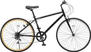 LIG(リグ)700Cシマノ6段変速アルミ製ウロスバイク[サムシフト/Vブレーキ/ベル標準装備] CR-7006 LIG ブラック