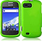 ZTE Fury N850 Director N850L Valet Z665C Snap On Hard Rubber Protector Cover Case - Neon Green