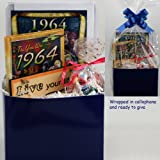 50th Birthday Gift Basket - Live Your Life - with 1964 Retro Items