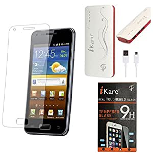 iKare Pack of 11 Tempered Glass for Micromax Yureka AO5510 + 10000 mAh Power Bank