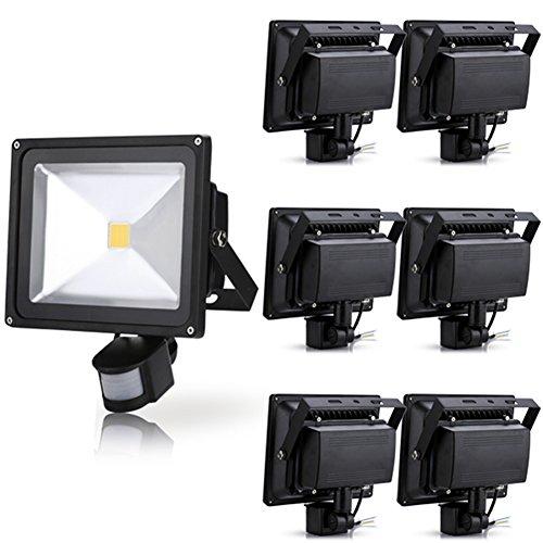 Generic 7Pcs 30W Warm White Led Induction Lamp Pir Motion Sensor Ip65 Outdoor Floodlight 85-265V