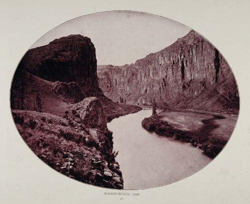 1893 Print Wagon Wheel Gap Bluffs River Colorado NICE ORIGINAL HISTORIC IMAGE - Original Halftone Print