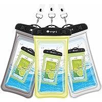 iOrange-E Universal Waterproof Cell Phone Case 3-Pack (Black/White/Yellow)