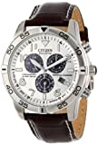 Citizen Mens BL5470-06A Stainless Steel Eco-Drive Watch with Leather Band