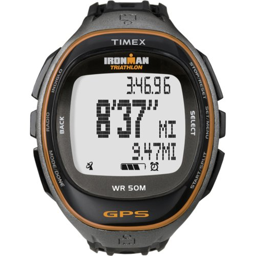 Timex Full-Size T5K549 Ironman Run Trainer GPS Watch Running Gps