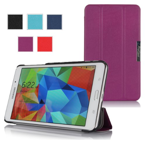 Procase Slimsnug Cover Case For Samsung Galaxy Tab 4 7.0 Tablet 2014 ( 7 Inch Tab 4, Sm-T230 / T231 / T235) (Purple)