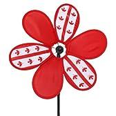 ★カナダ 30cm風車 3デザイン (赤)