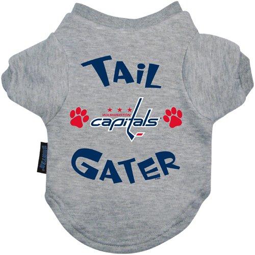 NHL Washington Capitals Hunter Tail Gater Pet T-Shirt, Large, Gray