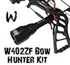 Wicked Lights W402ZF Bow Hunter Kit with WHITE LED for Bow Fishing, Predator & Hog Night Hunting complete light kit with 55mm bezel