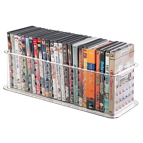 Dvd box storage bin video game case holder store media container home organizer ebay - Dvd case holder shelf ...
