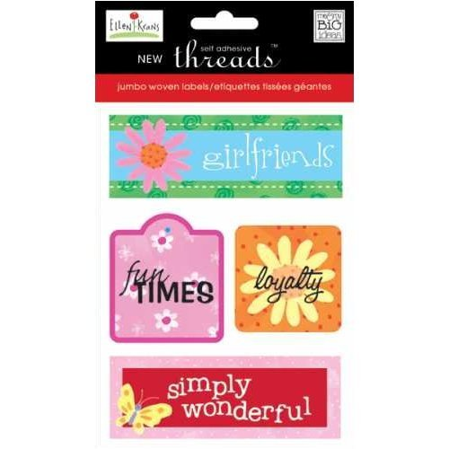 Me & My Big Ideas Self Adhesive Jumbo Threads Woven Labels - Ellen Krans