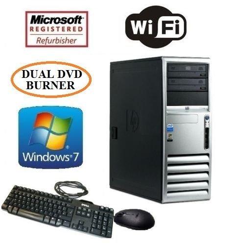 HP DC7700 Intel Dual Core 3.4GHz Desktop PC 8GB RAM 500GB HDD Windows 7 Wifi Computer + MS Office