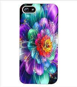 ColourCraft Digital flower Design Back Case Cover for APPLE IPHONE 5