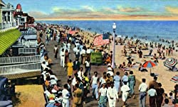 Boardwalk, Ocean City, Maryland, ca. 1935 - Fine-Art-Quality Photographic Print - 8x10-inch Enlargement from a Classic Vintage Postcard