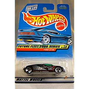 Hot Wheels Mattel 1997 Future Fleet 2000 Series 1 of 4 Ford GT-90 Die Cast 1:64 Car Collector 001 1:64 Scale