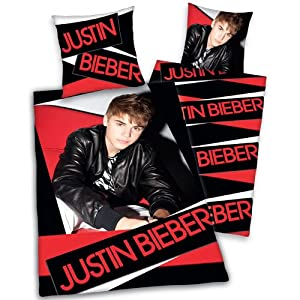 Justin Bieber Bedding on Justin Bieber   Bedding Red  Amazon Co Uk  Sports   Outdoors