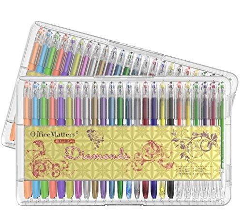 officematters-96-set-di-penne-gel-con-custodia-50-in-piu-di-inchiostro-per-adulti-libri-da-colorare-