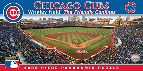 Masterpieces MLB Chicago Cubs Stadium Panoramic Jigsaw Puzzle, 1000-Piece (Chicago Puzzle 1000 compare prices)