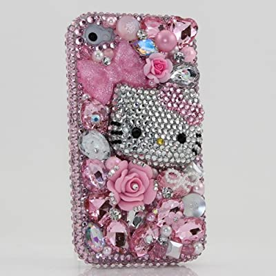 Swarovski Pink Hello Kitty Crystal Bling Case Cover For Apple iPhone 5Iphone 5 Cases Hello Kitty 3d