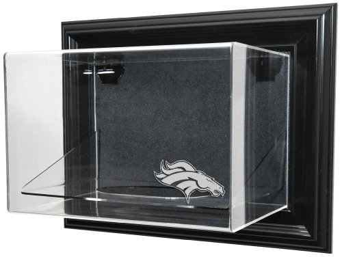 "Nfl Denver Broncos Football ""Case-Up"" Display - Black With Museum Quality Uv Upgrade"
