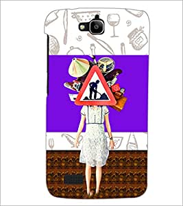 PrintDhaba Abstract Image D-4948 Back Case Cover for HUAWEI HONOR HOLLY (Multi-Coloured)