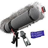 Rycote Super-Blimp Windshield Kit for Sennheiser MKE600 Shotgun Mic with (2) TAI Audio Cable Straps