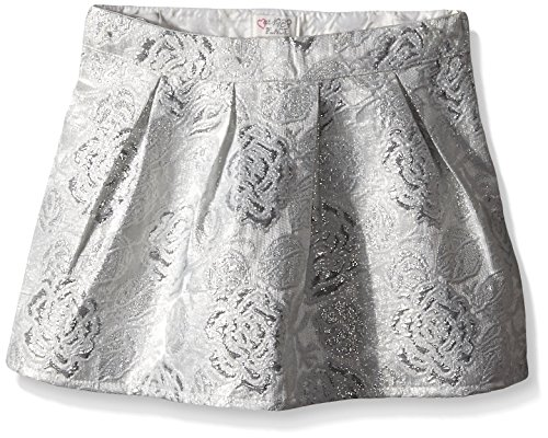 The Children's Place Big Girls' Brocade Skirt, Silver, 10