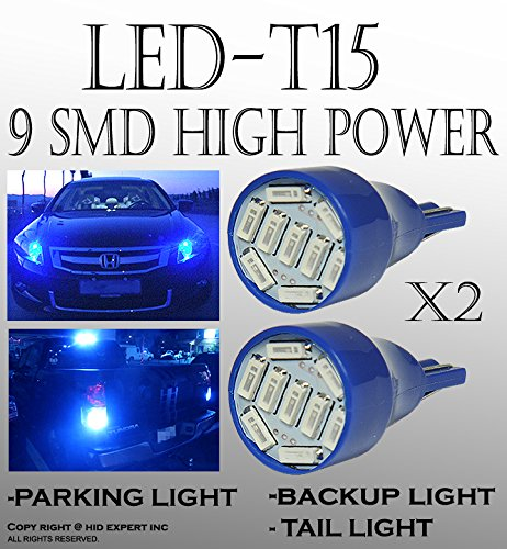 JDM 2 PAIRS T15 T10 168 920 921 5 LED Super Bright Blue 9 SMD Back Up Parking Light Bulbs (96 Toyota Tercel Fog Lights compare prices)