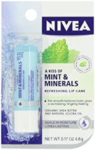 Nivea Kiss of Mint and Minerals Lip Care Blister Card, 0.17 Ounce