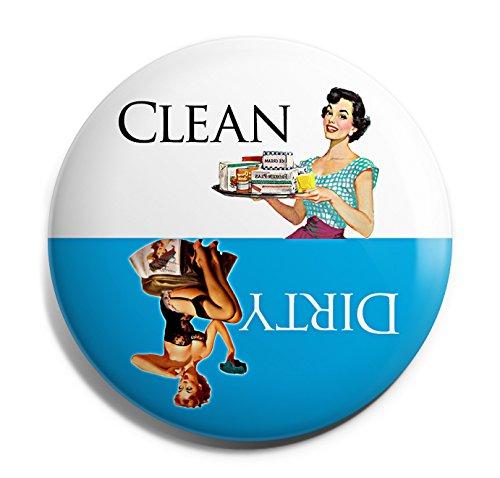 Blue Retro Clean Dirty Dishwasher Magnet