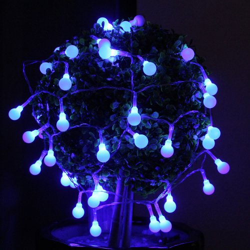Innoo Tech 40 Led Battery Operated String Lights Christmas Globe Fairy Lights Blue For Indoor Bedroom Party Xmas Wedding Decoration