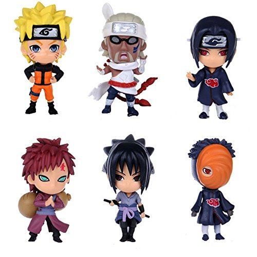 6pcs/set BEST Anime Cute Action Figure Toy Set Figurines PVC Kids Toys ,Action Figures New Models (Naruto Nine Tails Figure compare prices)