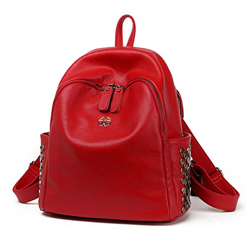 47STO Womens Fashion Simple Style Leather Backpack Shoulder Bag-C1 (Faux Leather Garment Bag compare prices)