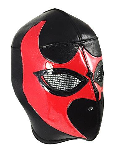 [BLACK VIPER Adult Lucha Libre Wrestling Mask (pro-fit) Costume Wear - Black/Red] (Custom Wrestling Costumes)