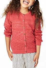Pure Cotton Pointelle Cardigan [T77-6175V-Z]