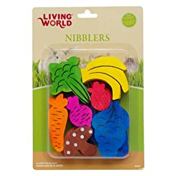 LW Nibblers, Wood Chews, Fruit/Veggie Mix