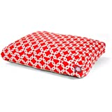 Red Links Medium Rectangle Indoor Outdoor Pet Dog Bed With Removable Washable Cover By Majestic Pet Products