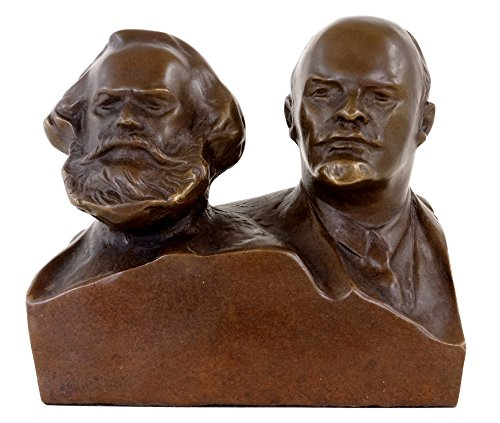Bronze Bust - Marx and Lenin - Bronze Figurine - Karl Marx Bust - Military Statues - Bronze Bust - Military Statues for sale