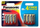 Panasonic Xtreme Power AA/LR6 Battery 12 Pack 8+4 Free