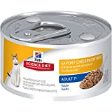 Hill's Science Diet Adult 7+ Savory Chicken Entree Minced Cat Food, 3-Ounce Can, 24-Pack