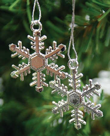 48 - 1&quot; Silver Snowflakes Winter Wedding Favors or Ornaments
