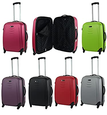 Medium 60litre Hard Shell 4 Wheel Spinner Suitcase ABS Luggage Trolley Case
