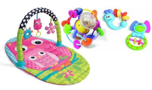 Infantino Explore & Store Activity Gym With Activity Toy Set, Owl