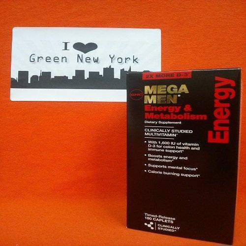 GNC Mega Men l'énergie et du métabolisme 180