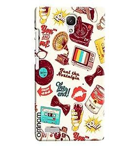 Omnam Taste The Nostalagic Patter Designer Back Cover Case for Xiaomi Redmi Note Prime