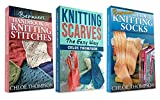 "(3 BOOK BUNDLE) ""Beginners Handbook of Knitting Stitches"" and "" How to Knit Scarves"" and ""How to Knit Socks"": Learn How to Knit Quick and Easy"