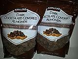 Kirkland Signature Dark Chocolate Covered Almonds with Turbinado Sugar and Sea Salt (2 - 32 Ounce Bags)