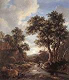 """""""Art, Oil painting reproduction size 24x36 Inch, painting name: Sunrise in a Wood, by Ruysdael Jacob Isaackszon van"""""""