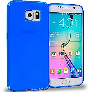 Accessory Planet(TM) Blue Plain TPU Rubber Skin Case Cover Accessory for Samsung Galaxy S6
