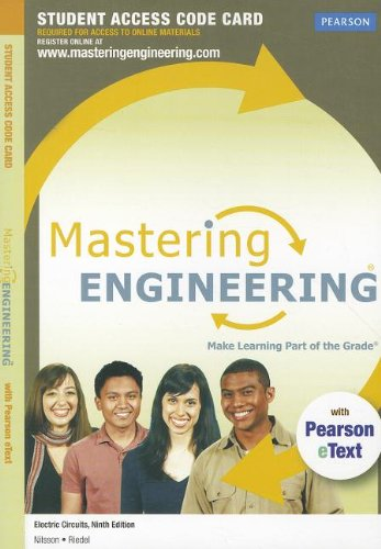 Masteringengineering With Pearson Etext -- Access Card -- For Electric Circuits